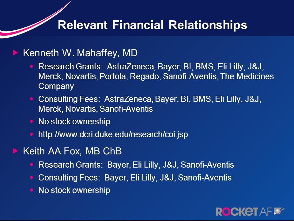 Relevant Financial Relationships