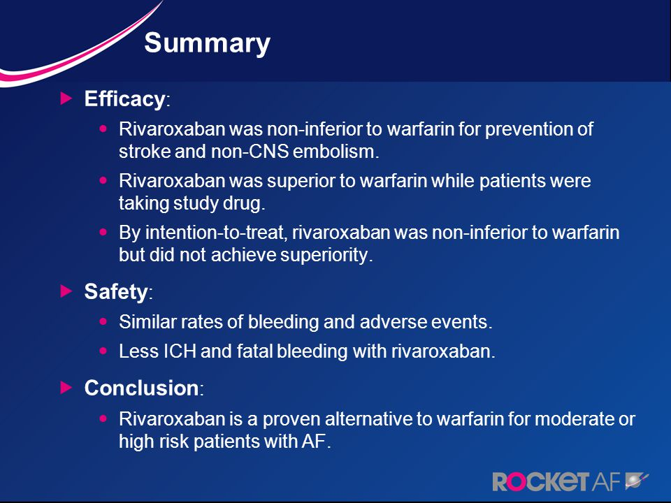 Summary Efficacy: Safety: Conclusion: