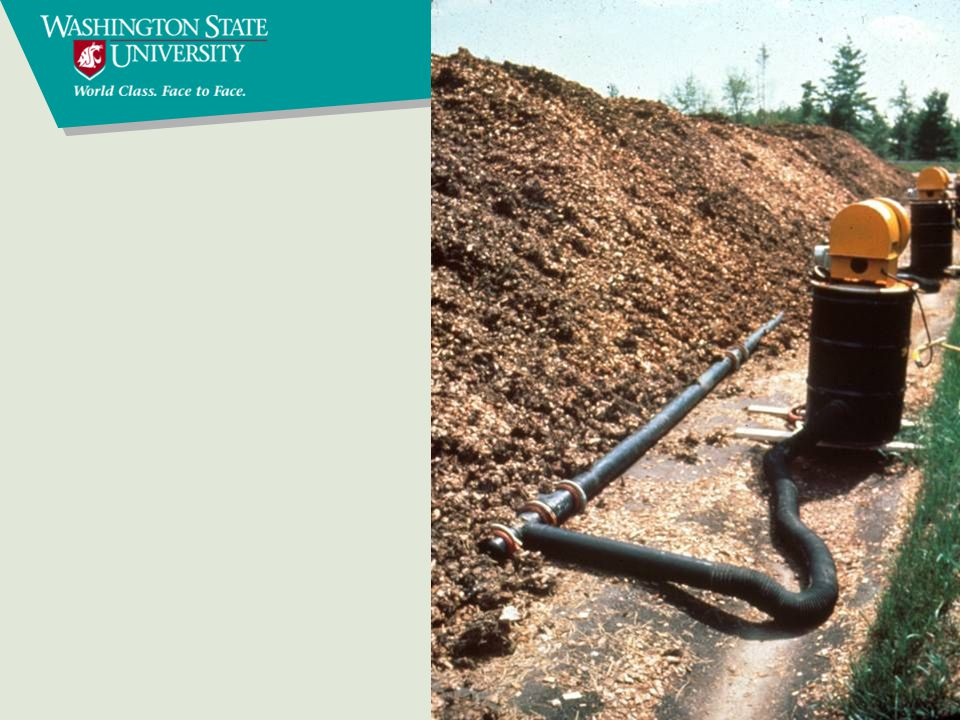 Composting methods In vessel Aerated static pile Passively aerated systems windrow bunker