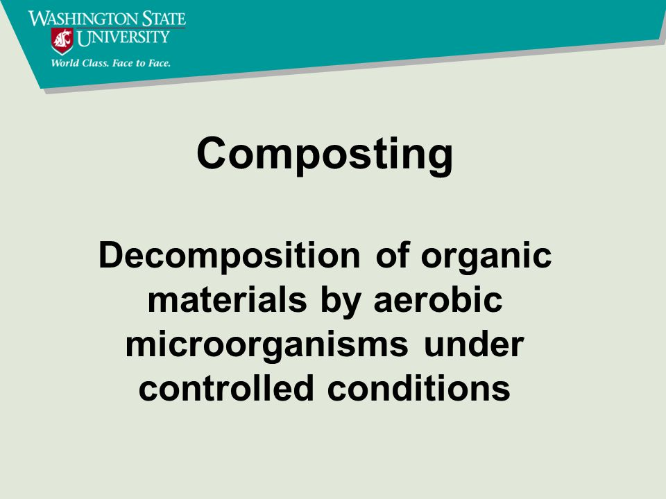 Why compost Compost good soil conditioner Improved manure handling