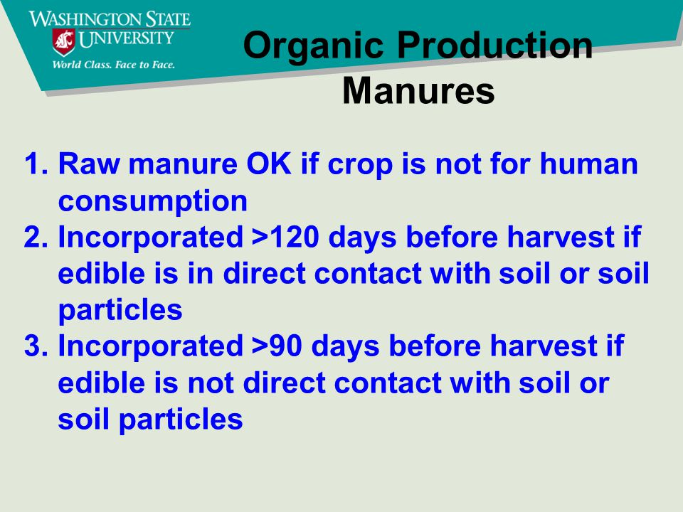 Organic Production Compost non animal materials