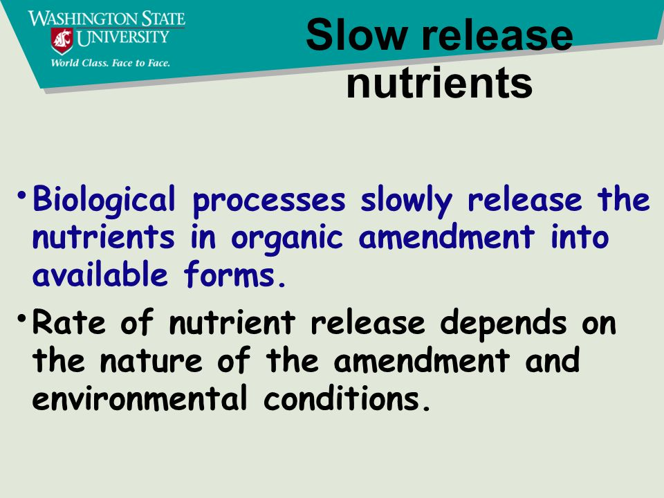 Nutrient uptake The forms of nutrients taken up by plants are the same for all types of fertilizer -- manufactured or organic.