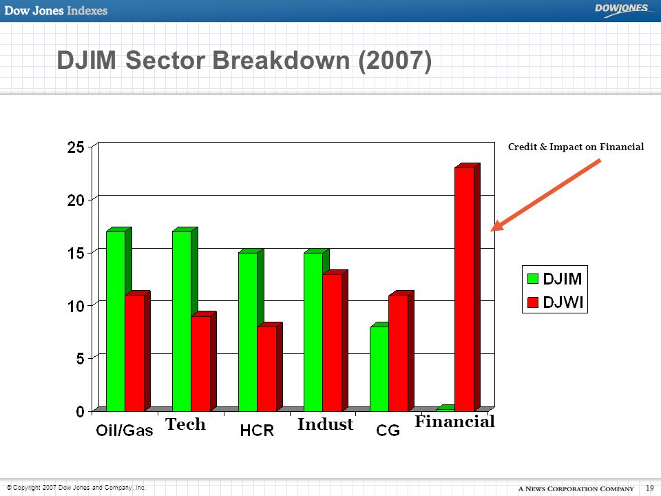 DJIM Sector Breakdown (2007)