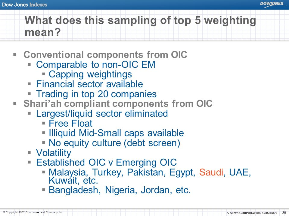 What does this sampling of top 5 weighting mean