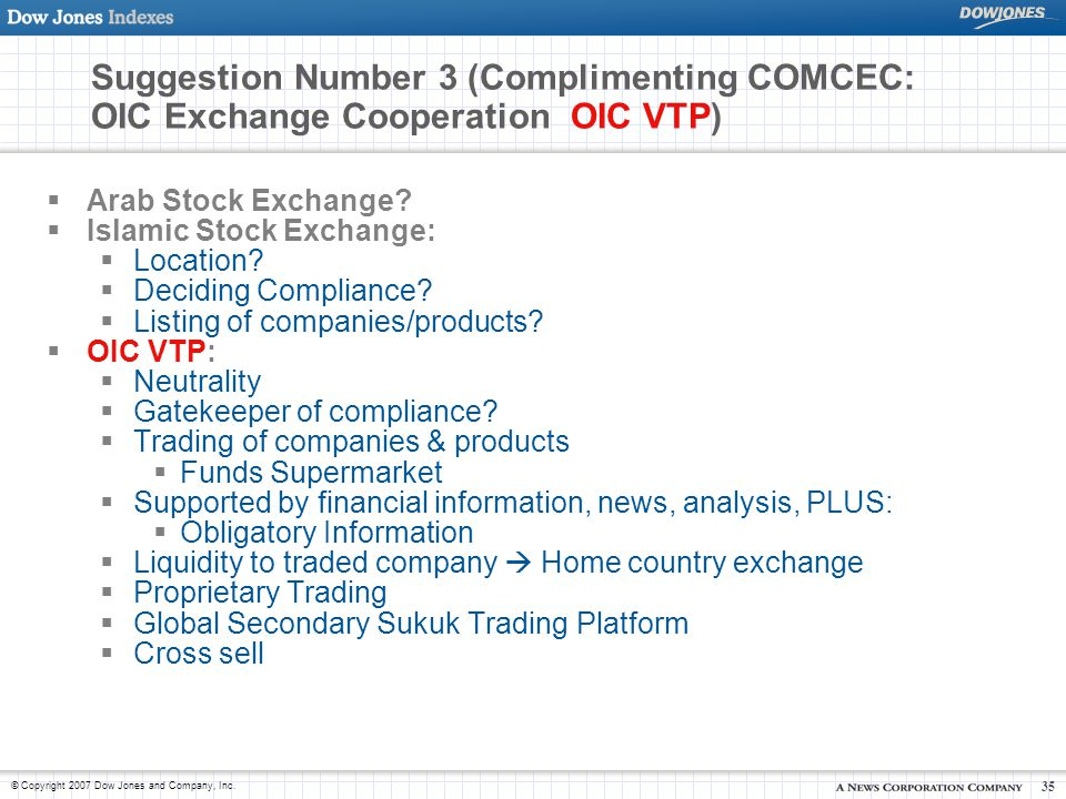 Suggestion Number 3 (Complimenting COMCEC: OIC Exchange Cooperation OIC VTP)