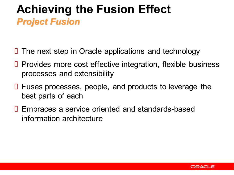 Achieving the Fusion Effect Project Fusion