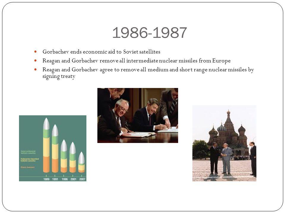 1986-1987 Gorbachev ends economic aid to Soviet satellites