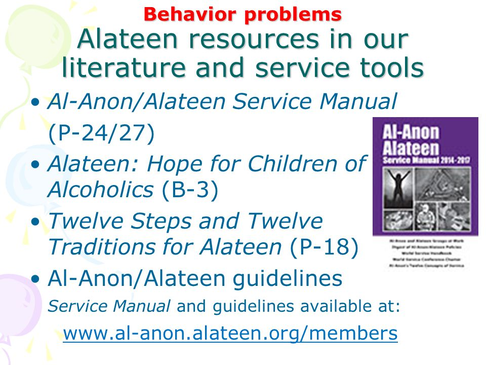 Al-Anon/Alateen Service Manual (P-24/27)