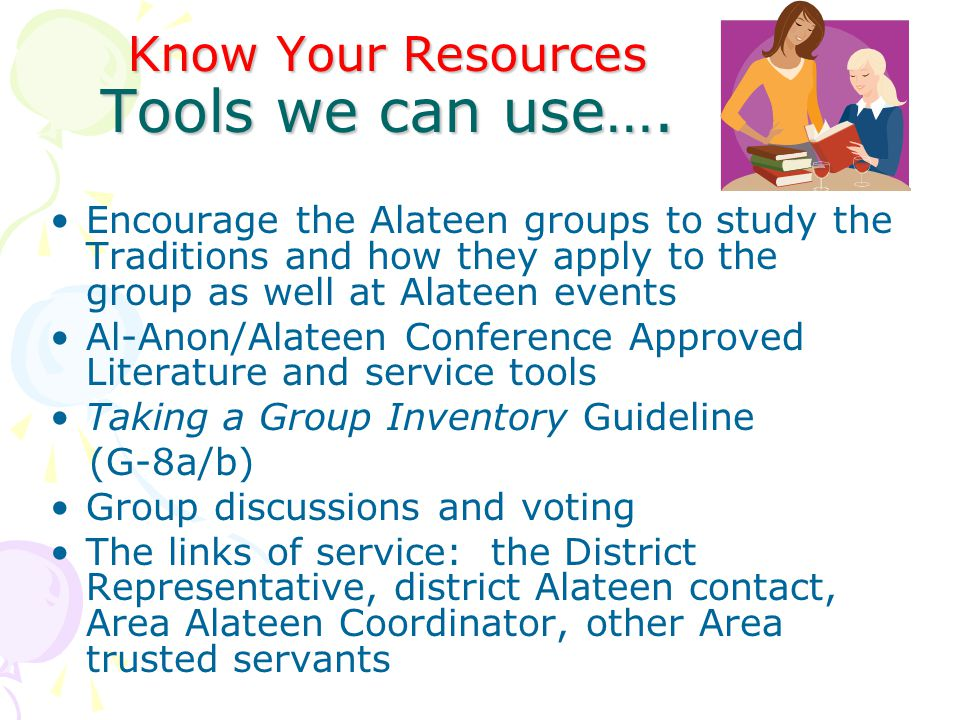 Know Your Resources Tools we can use….