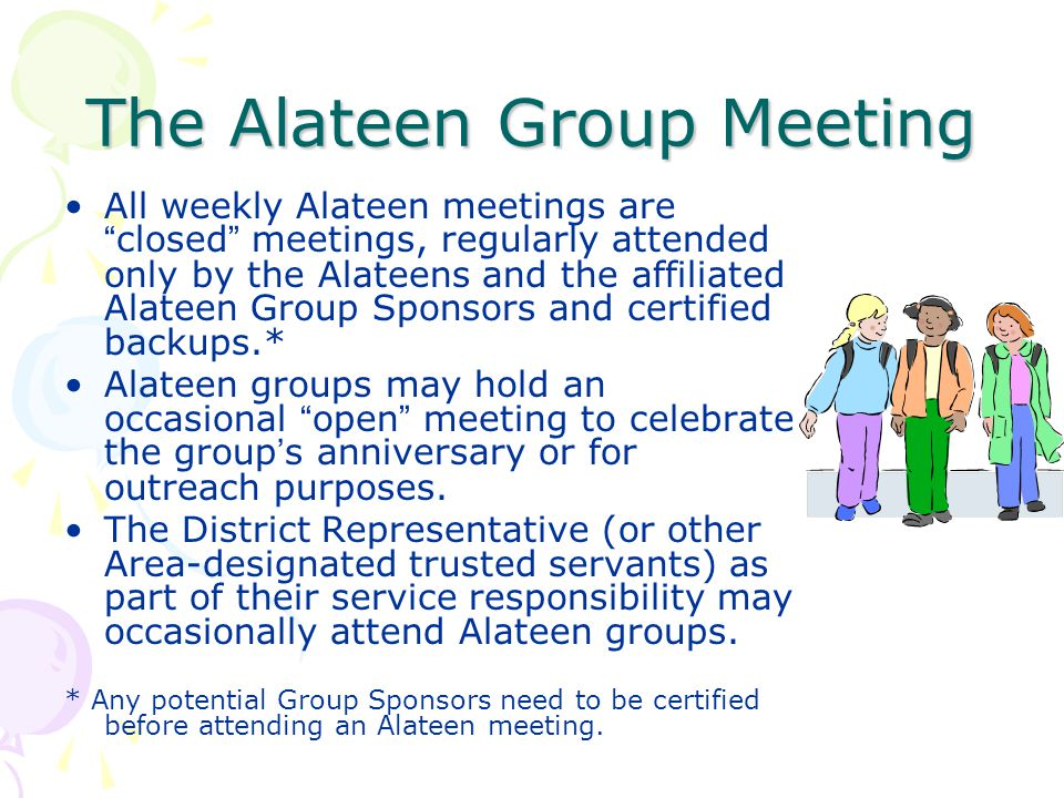 The Alateen Group Meeting
