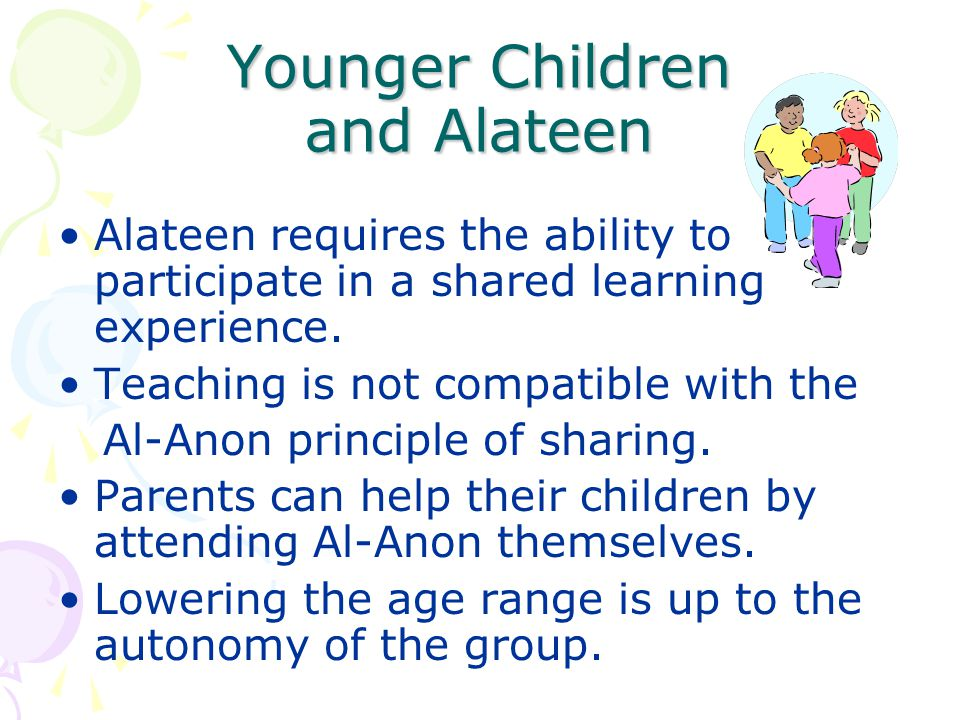 Younger Children and Alateen