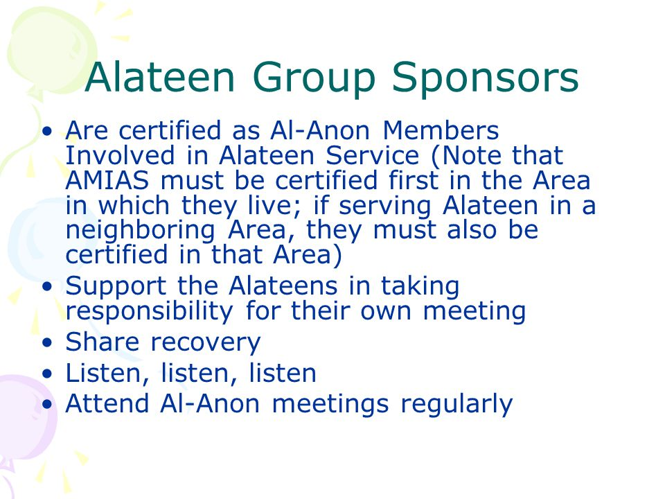 Alateen Group Sponsors