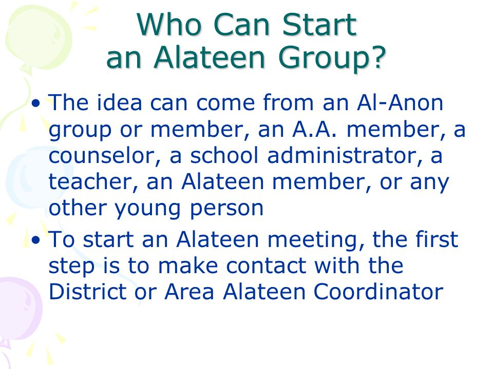 Who Can Start an Alateen Group