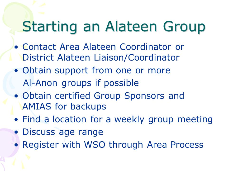 Starting an Alateen Group