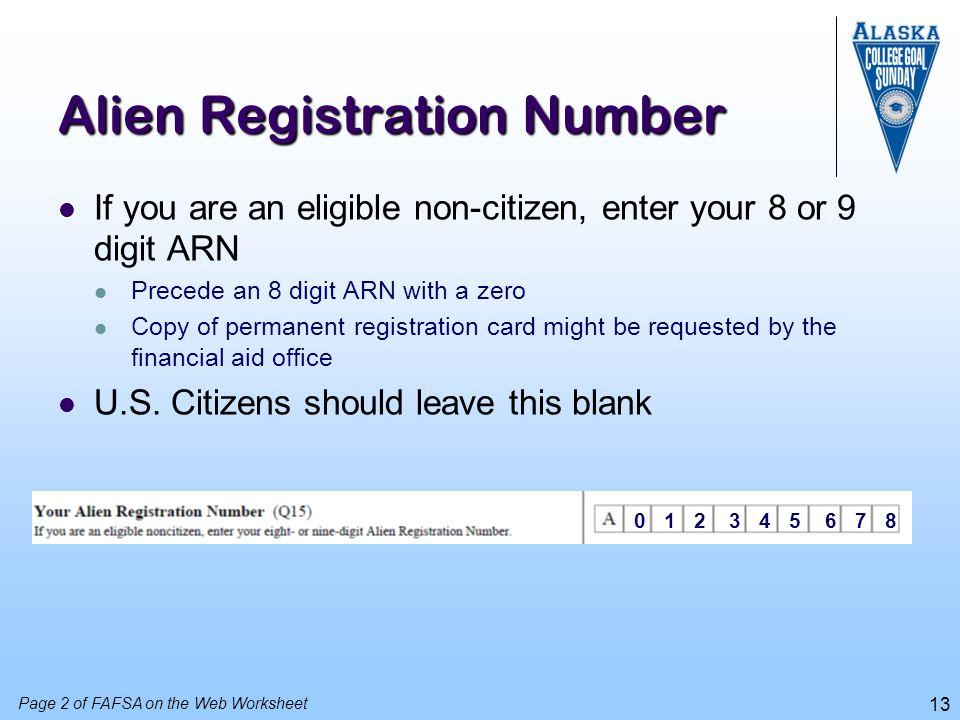 Alien Registration Number