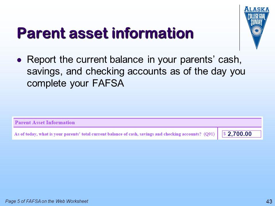 Parent asset information
