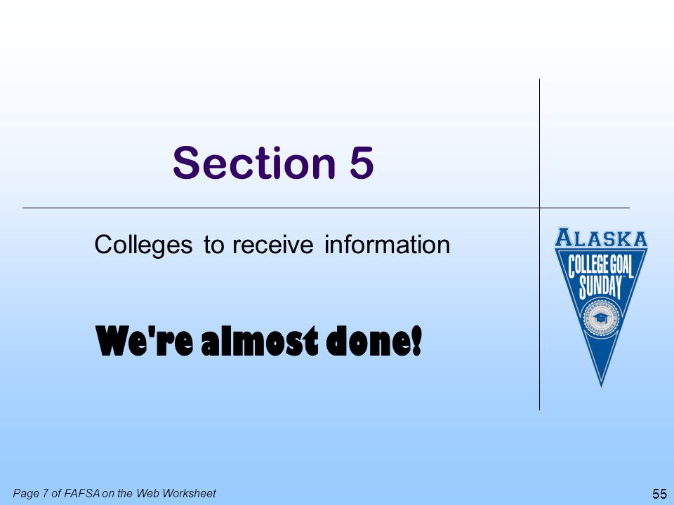 Colleges to receive information