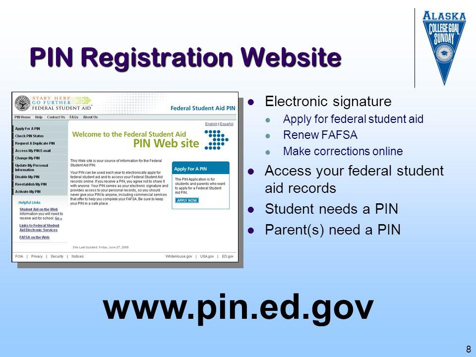 PIN Registration Website