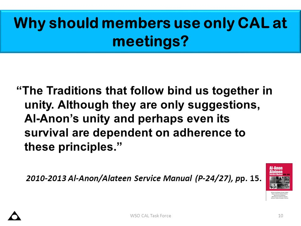 Why should members use only CAL at meetings