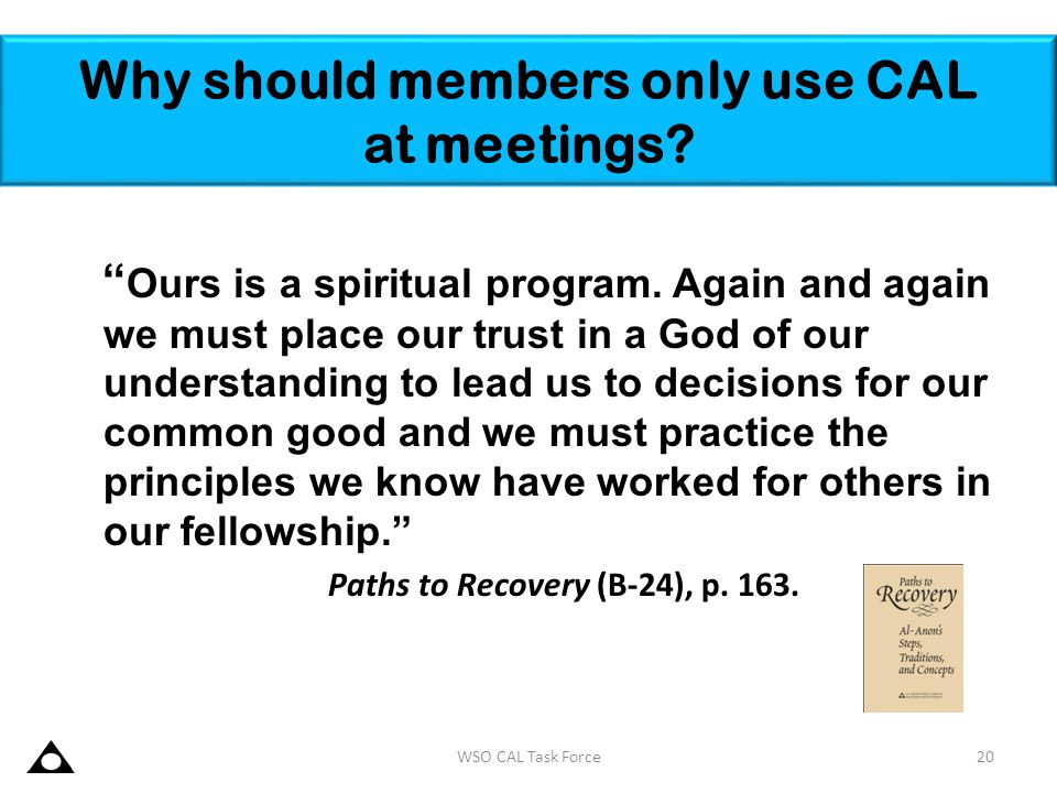 Why should members only use CAL at meetings