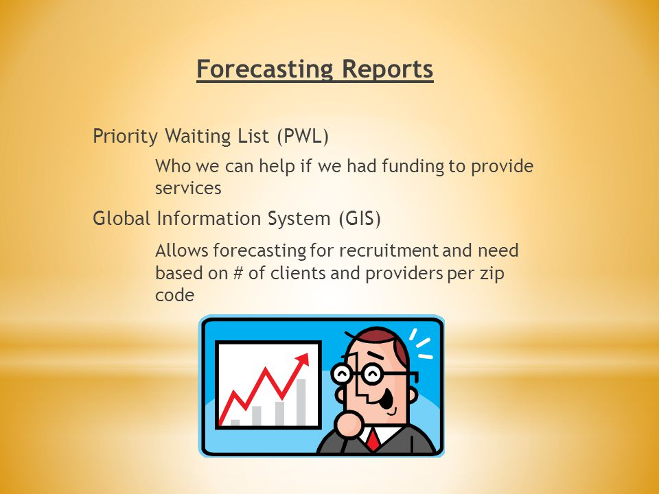Forecasting Reports Priority Waiting List (PWL)