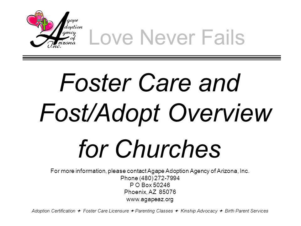 Foster Care and Fost/Adopt Overview