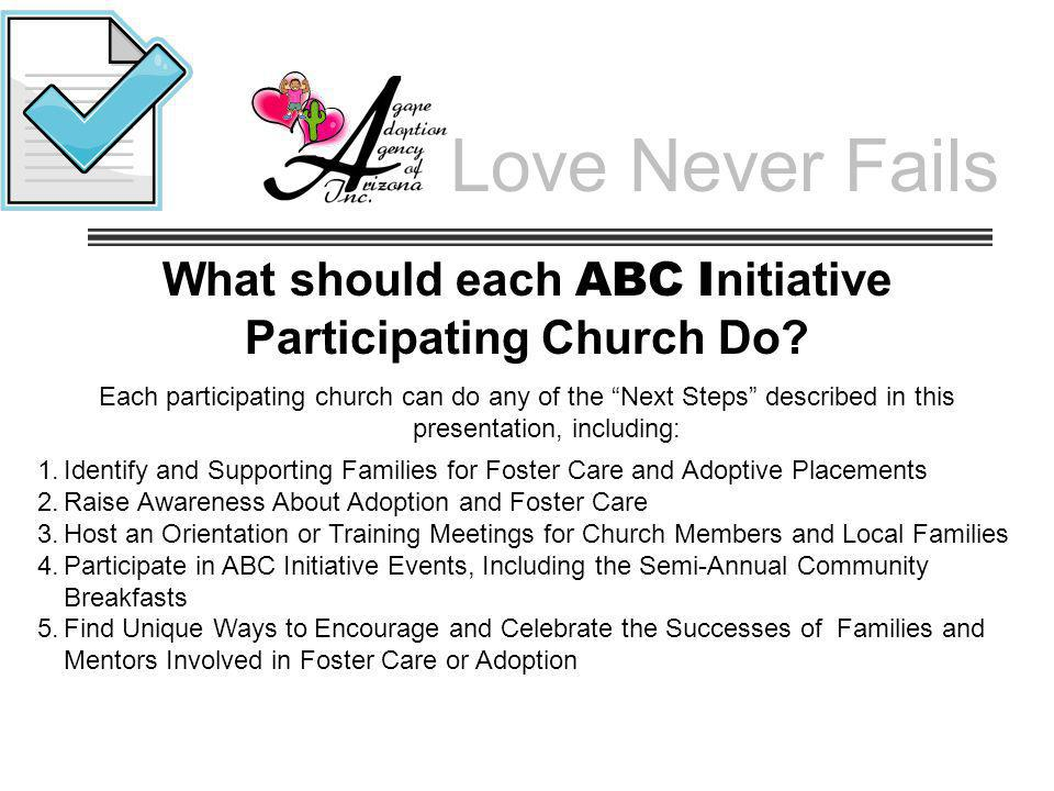 What should each ABC Initiative Participating Church Do