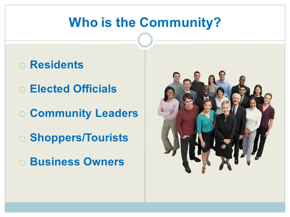 Who is the Community Residents Elected Officials Community Leaders
