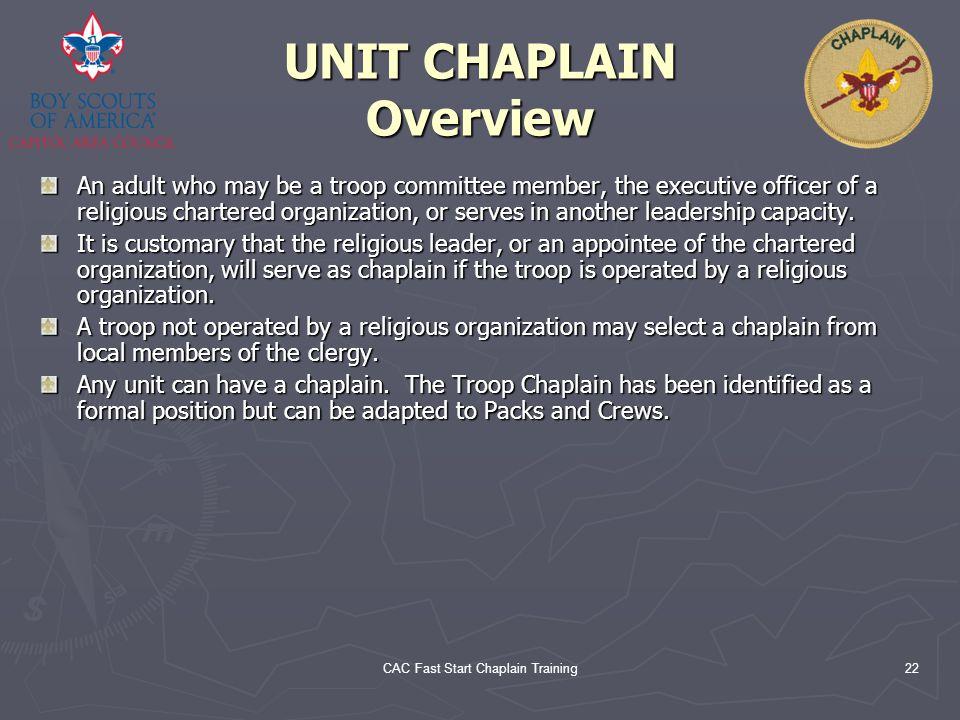 UNIT CHAPLAIN Overview