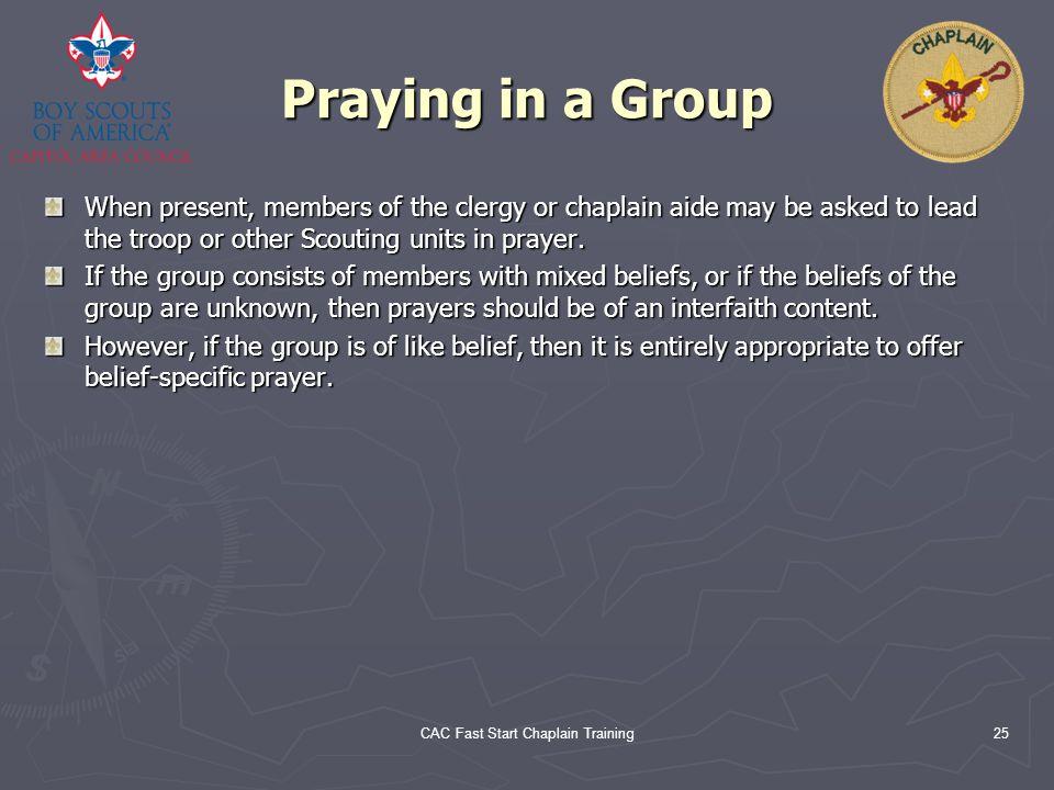 CAC Fast Start Chaplain Training