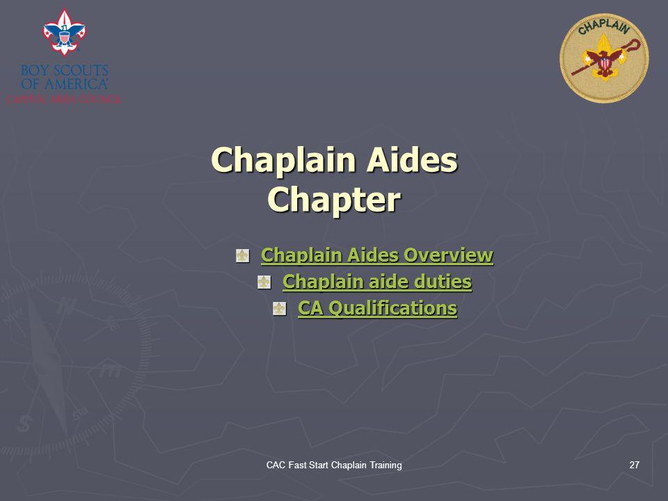Chaplain Aides Chapter