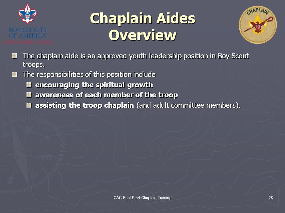 Chaplain Aides Overview