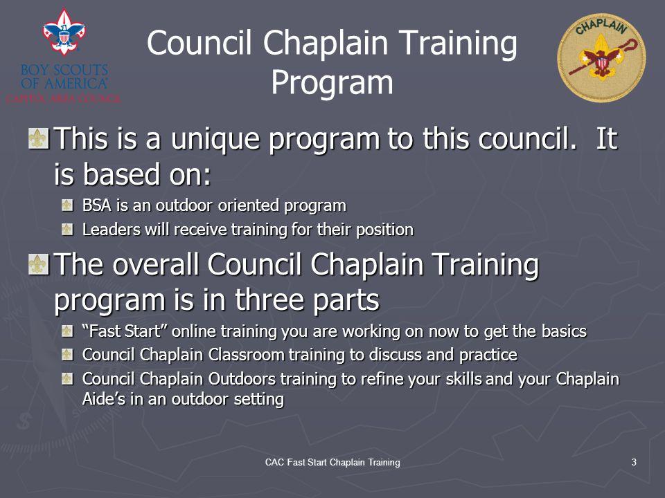 Council Chaplain Training Program