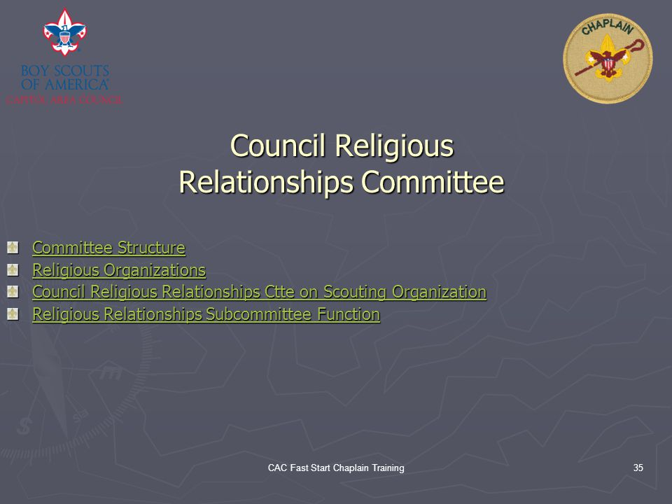 Council Religious Relationships Committee