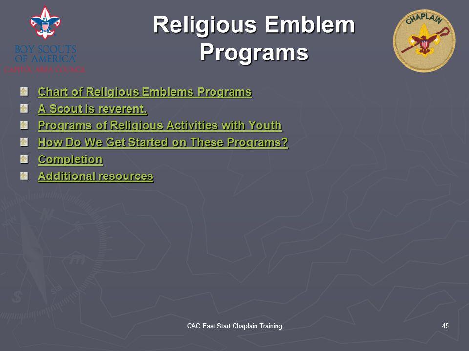 Religious Emblem Programs