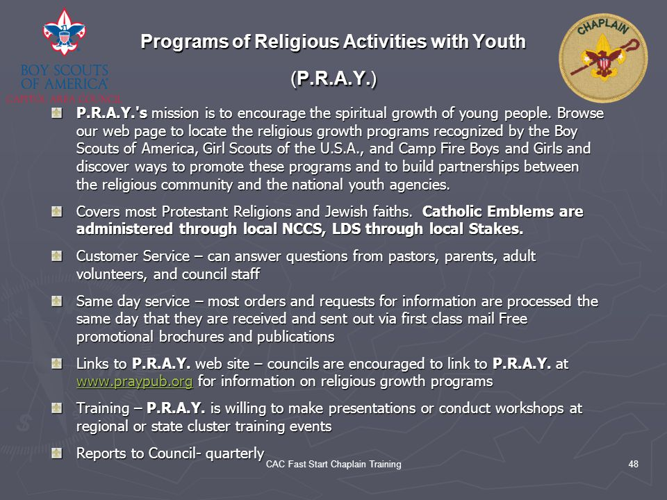 Programs of Religious Activities with Youth (P.R.A.Y.)