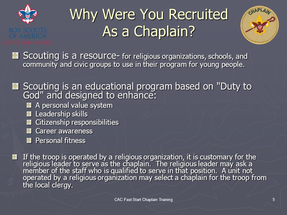 Why Were You Recruited As a Chaplain