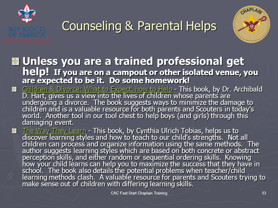 Counseling & Parental Helps
