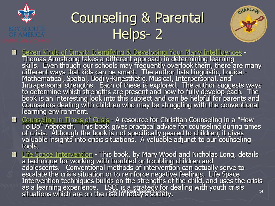 Counseling & Parental Helps- 2
