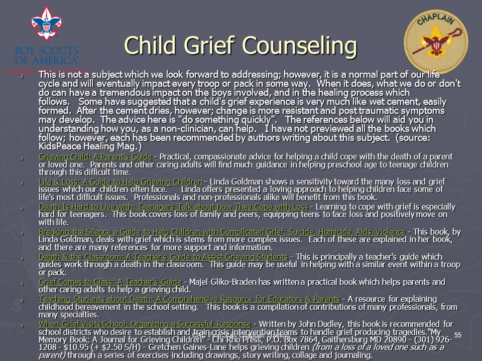 Child Grief Counseling