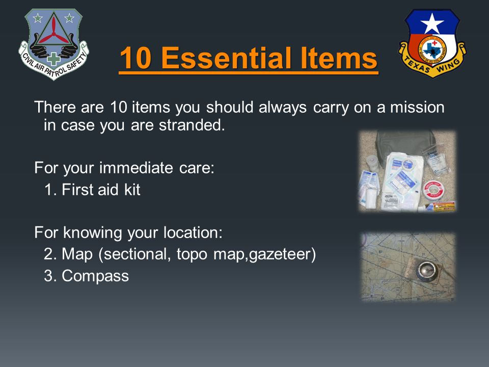 10 Essential Items