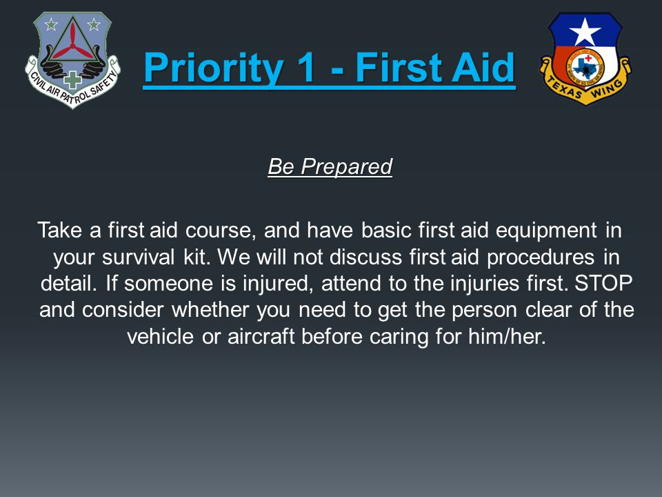 Priority 1 - First Aid