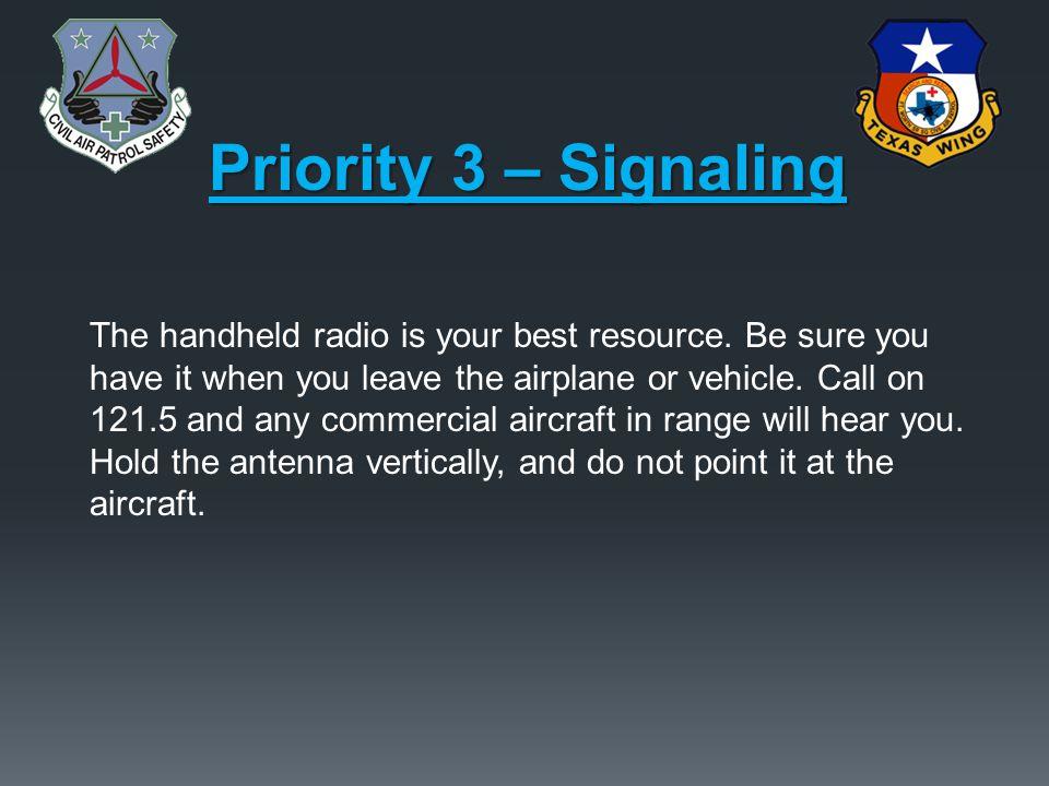 Priority 3 – Signaling