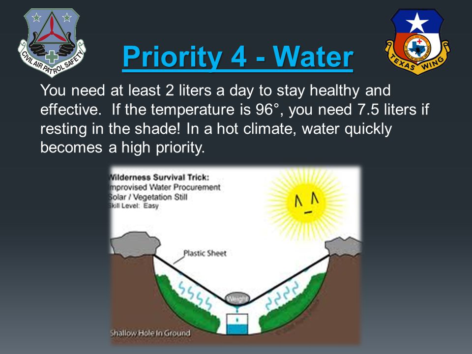 Priority 4 - Water