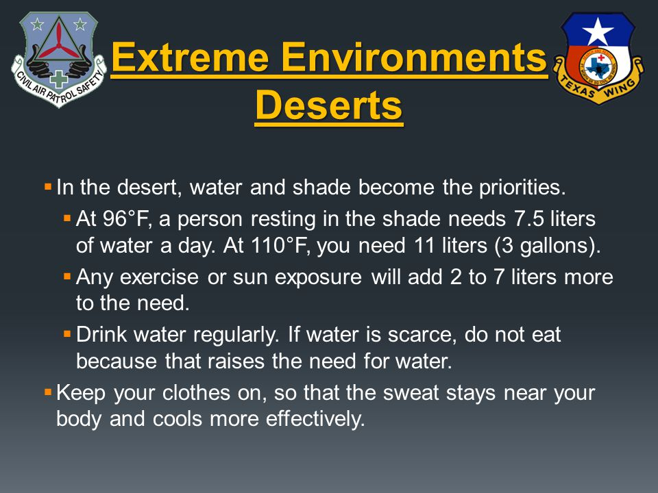 Extreme Environments Deserts