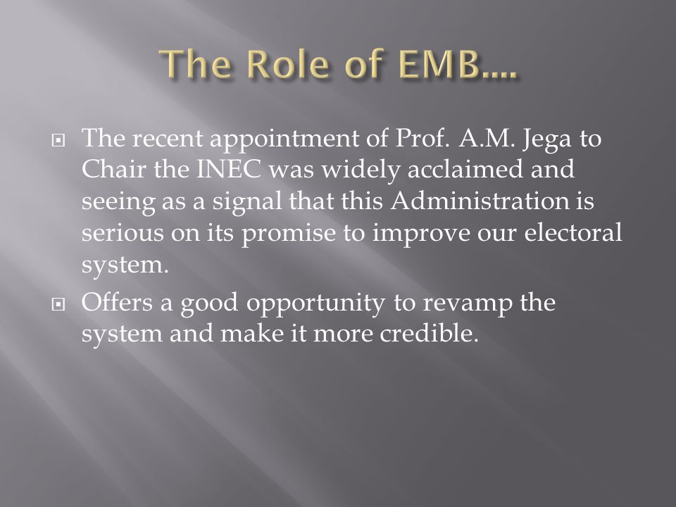 The Role of EMB....
