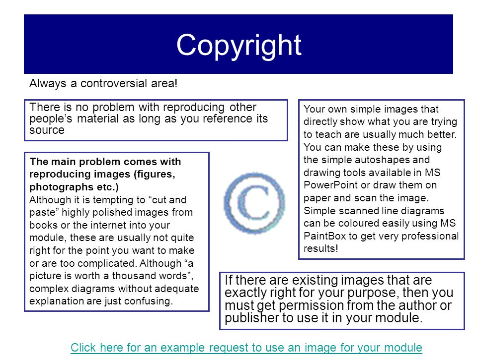Copyright Always a controversial area! There is no problem with reproducing other people's material as long as you reference its source.