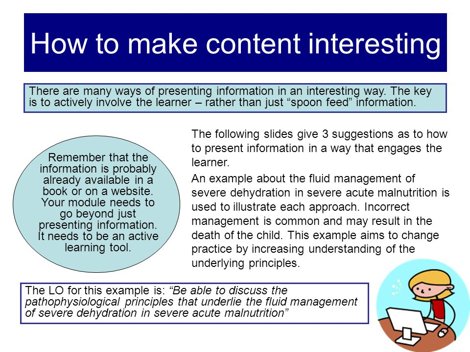 How to make content interesting