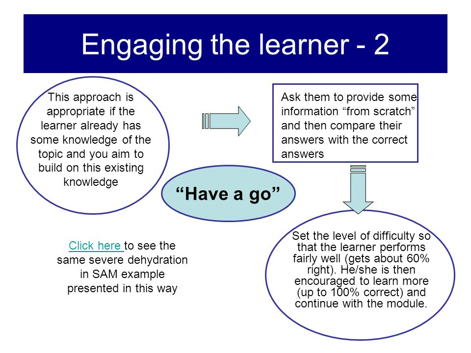 Engaging the learner - 2 Have a go