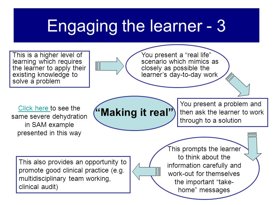 Engaging the learner - 3 Making it real